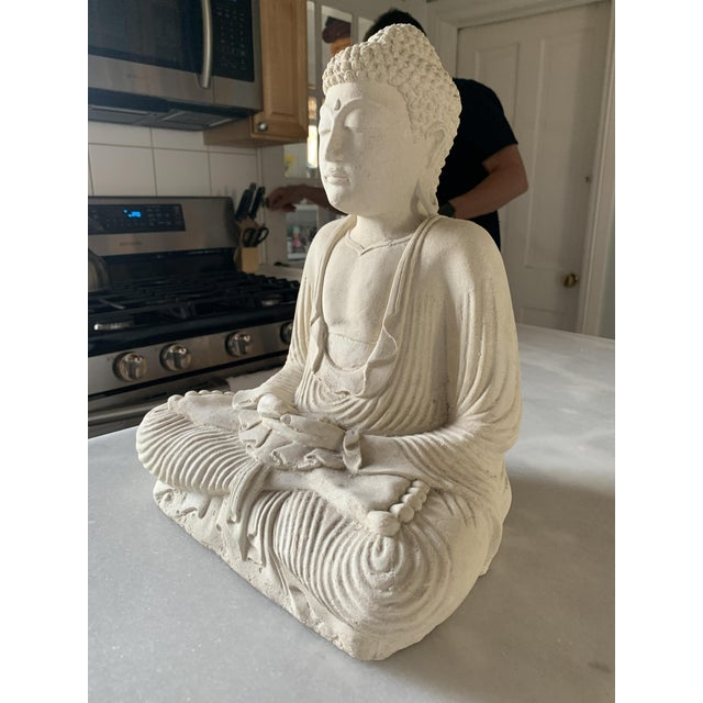 Large Stone and Plaster Cast Buddha For Sale - Image 10 of 13