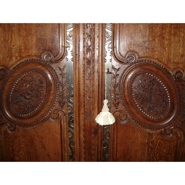 One of a Kind Beautiful Normandie Armoire For Sale In Los Angeles - Image 6 of 11
