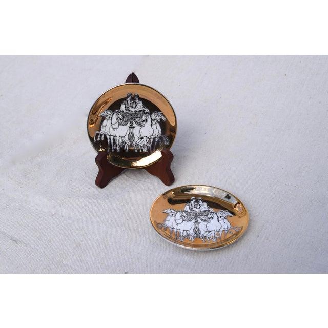 Italian Fornasetti Roman Charriot Demi Plates For Sale - Image 3 of 6