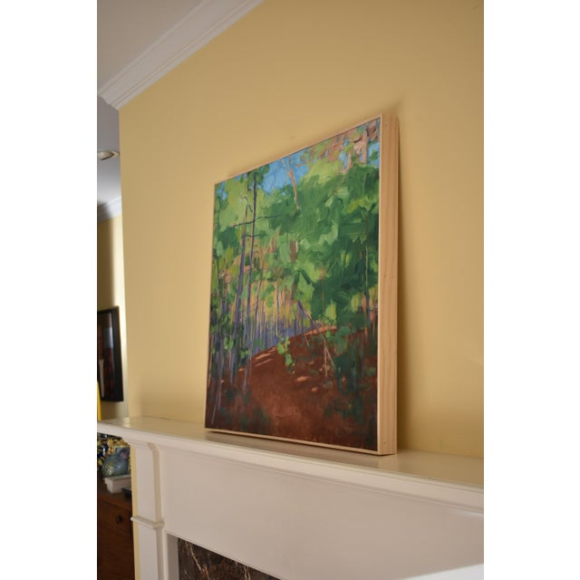 """Green Stephen Remick """"Late Afternoon"""" Contemporary Painting For Sale - Image 8 of 11"""