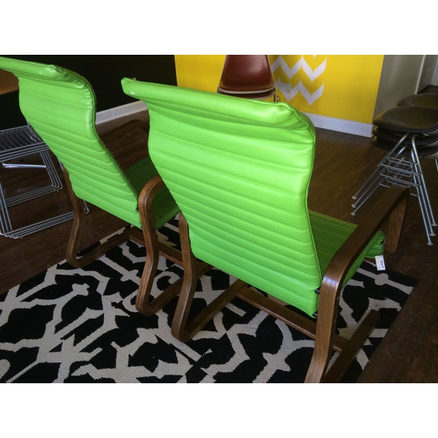 Thonet Bentwood Lounge Chairs in Green - A Pair - Image 5 of 8