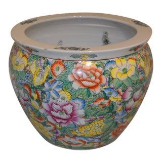 Chinese Porcelain Koi Fish Bowl