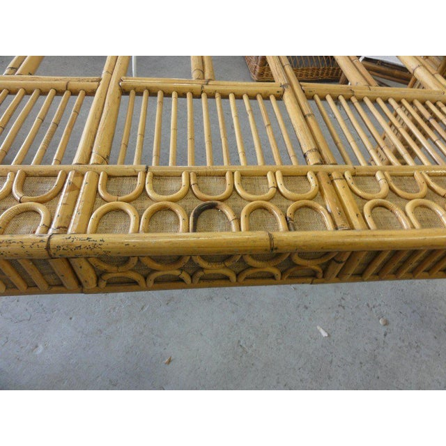 Intricate Natural Bamboo Dining Table For Sale - Image 12 of 13