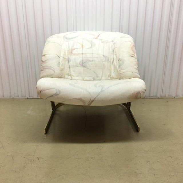Milo Baughman Milo Baughman Cantilever Brass Lounge Chair For Sale - Image 4 of 7