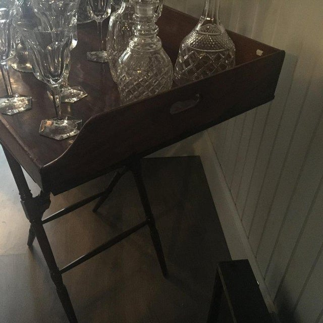 Geo III Mahogany Butlers Tray on Stand For Sale In South Bend - Image 6 of 10