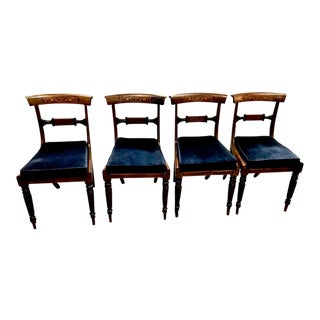 19th Century English Regency Rosewood Dining Chairs - Set of 4 For Sale