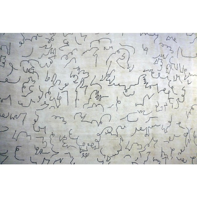 Contemporary Boccara Limited Edition Artistic Rug Homage to Jean Cocteau - Design N.12(White) For Sale - Image 3 of 6