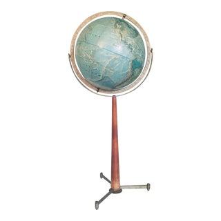 1960s Vintage Rand McNully Portrait Floor Globe For Sale