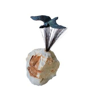 Curtis Jere Bronze Bird Sculpture For Sale