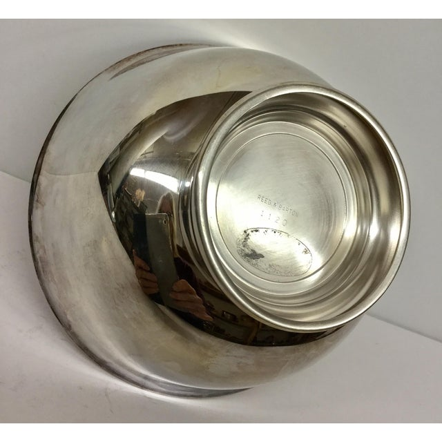 Contemporary Revere Reed & Barton Silverplate Cinnabar Red Enamel Bowl For Sale - Image 9 of 10