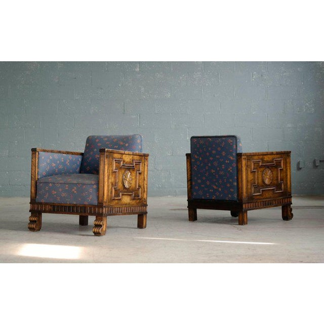 Axel Einar Hjorth Flamed Birch Lounge or Club Chairs, Sweden, 1930s - a Pair For Sale - Image 13 of 13