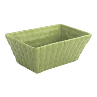 Vintage Brush Pottery Green Planter For Sale