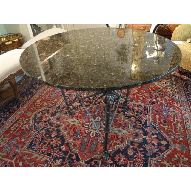 Italian Neoclassical Style Steel and Bronze Center Table After Giacometti For Sale In Houston - Image 6 of 13