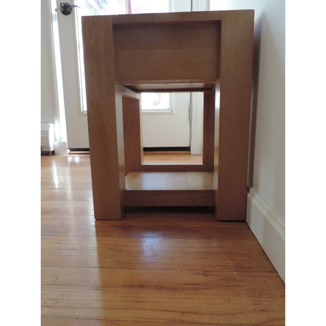 Minimalist Japanese Nightstand For Sale In Boston - Image 6 of 8