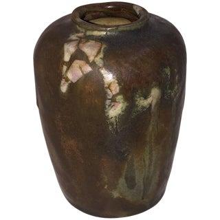 1900 Georges Hoentschel Brown Stoneware Vase For Sale