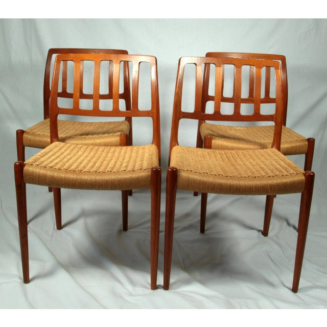 Niels Moller Danish Modern Model No. 83 Teak Dining Chairs - Set of 4 For Sale - Image 9 of 9
