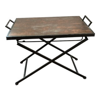 1990s Industrial Folding Tray Table For Sale