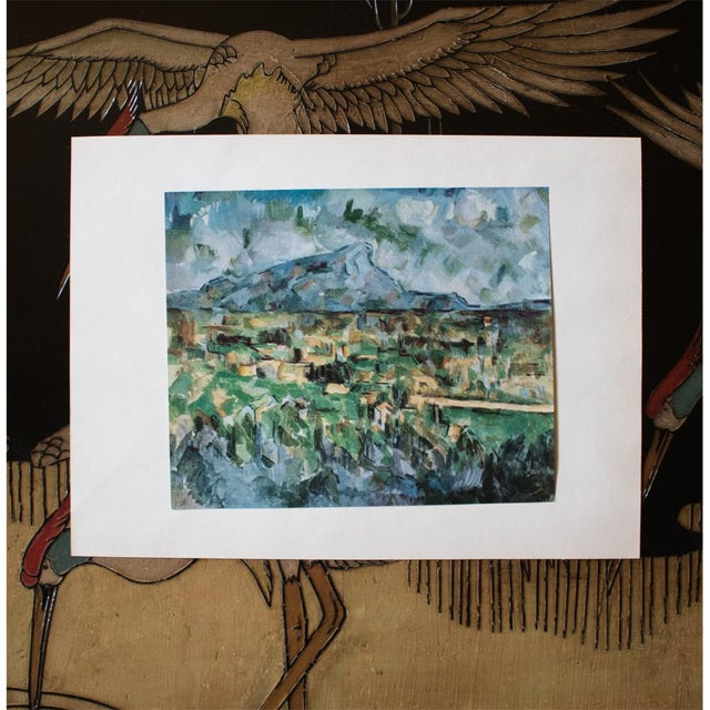 Impressionism 1950s Cezanne, Mont Sainte Victoire First Edition Lithograph For Sale - Image 3 of 7