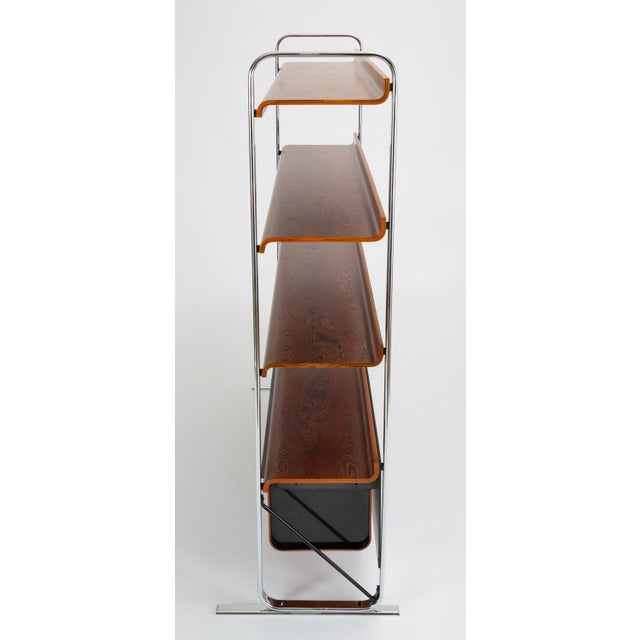 Mid-Century Modern Zebrawood and Chrome Bookshelf by Peter Protzmann for Herman Miller For Sale - Image 3 of 13