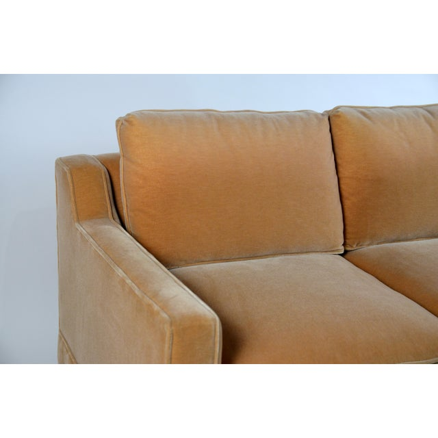 Art Deco Impeccable Mohair Designer Sofa in the Style of Jean-Michel Frank For Sale - Image 3 of 10