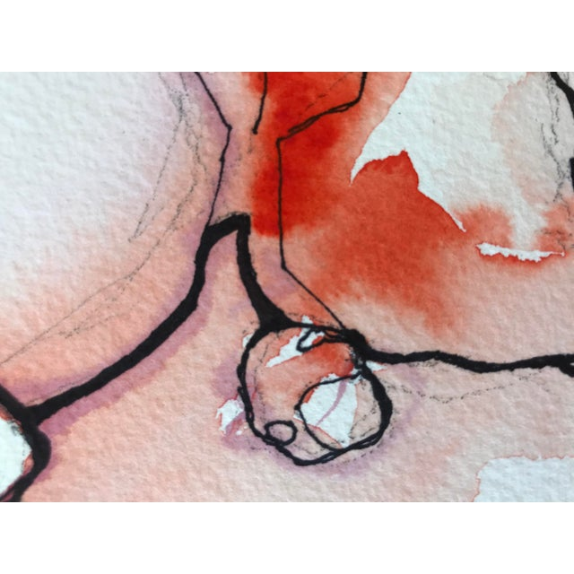 Abstract Let Sleeping Dogs Lie Watercolor and Ink Art by Tanwa Allred For Sale - Image 3 of 3