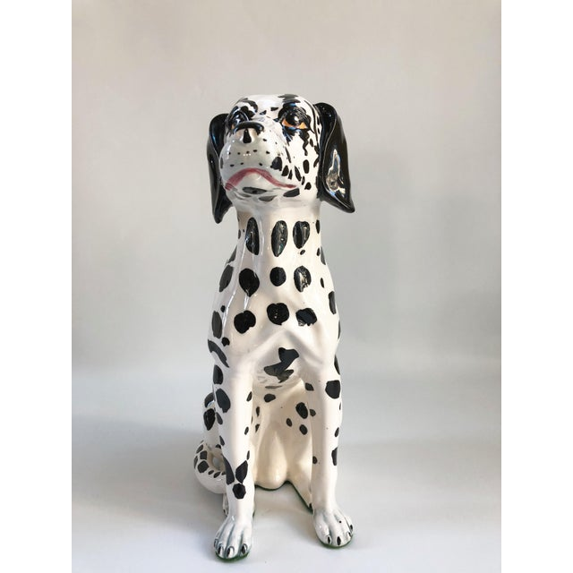 Mid 20th Century Mid-Century Large Italian Dalmatian Dog Statue For Sale - Image 5 of 8