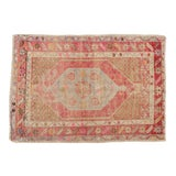 "Image of Vintage Distressed Oushak Rug - 2'9"" X 3'11"" For Sale"