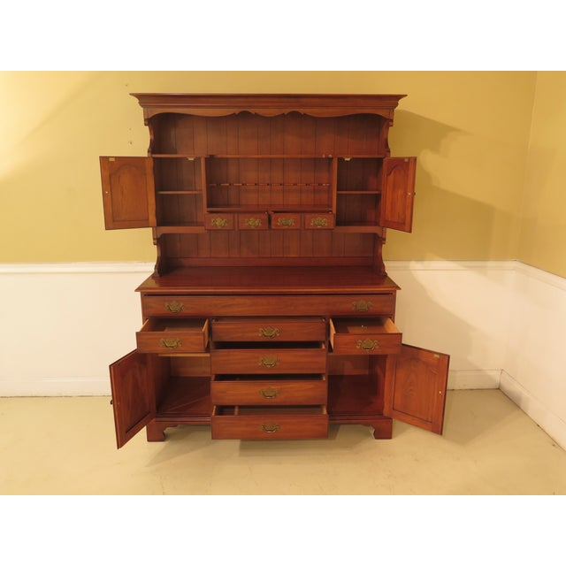 Henkel Harris Cherry 2-Piece China Hutch For Sale - Image 5 of 11