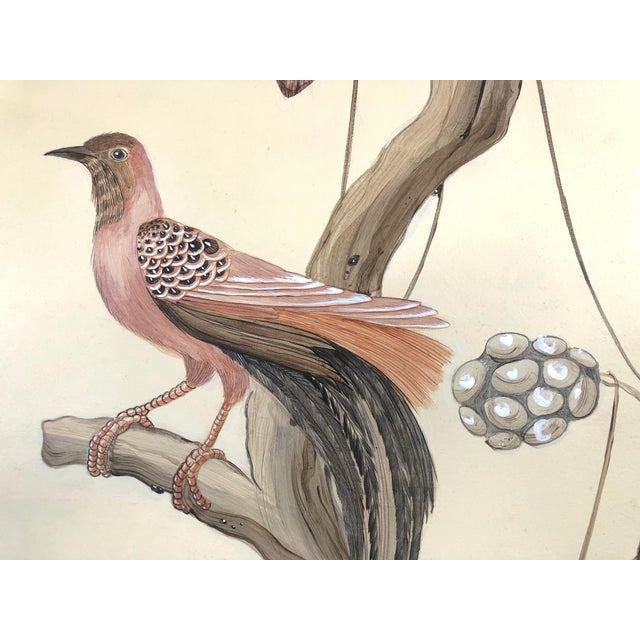 """Allison Cosmos Chinoiserie Style Bird Painting, """"Take It to the Nest Level"""" For Sale - Image 4 of 9"""