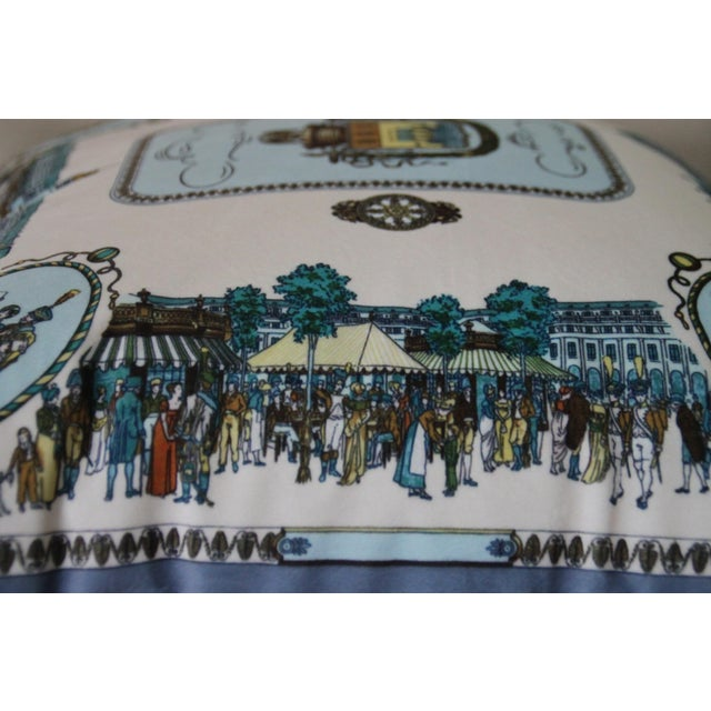 English Traditional European Street Scene Scarf Pillow Cover For Sale - Image 3 of 6