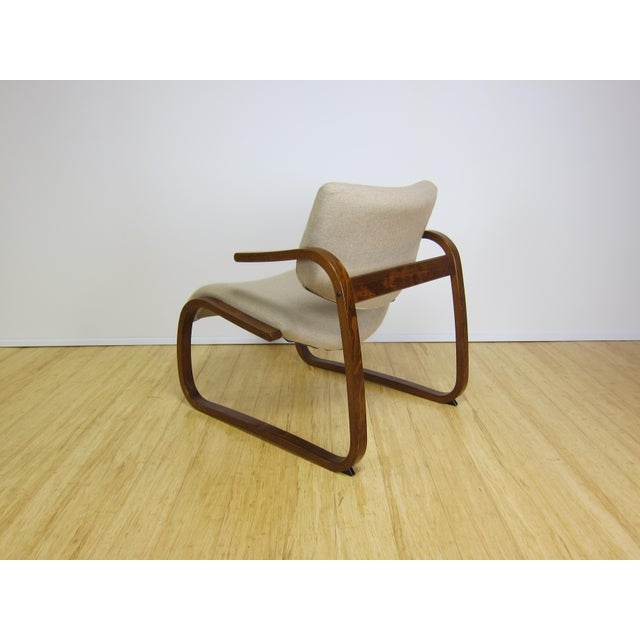 1970s 1970s Danish Modern Oddvin Rykken Cantilever Bentwood Lounge Chair For Sale - Image 5 of 11
