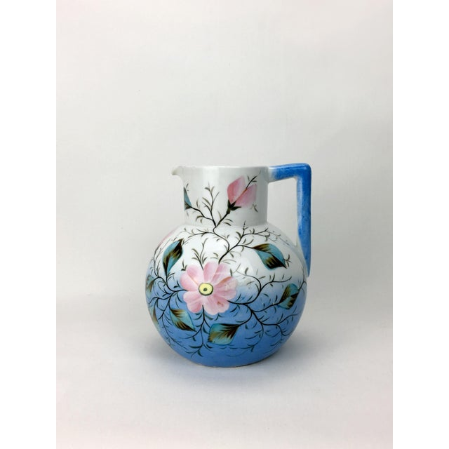 20th Century Traditional Blue & White Floral Pitcher For Sale In New York - Image 6 of 6