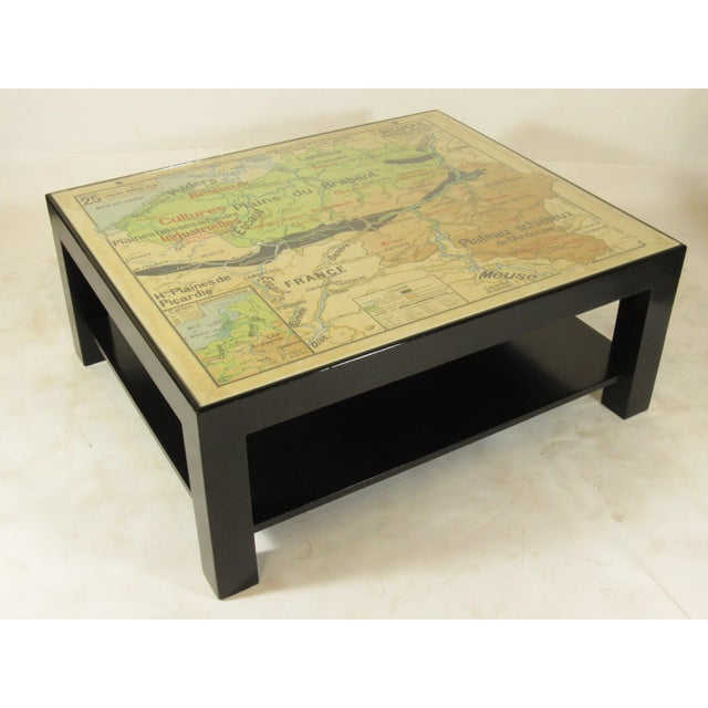 Pleasant Modern Map Coffee Table Home Remodeling Inspirations Propsscottssportslandcom