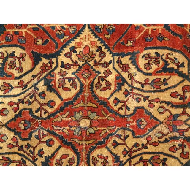 Islamic Late 19th Century Antique Persian Sarouk Farahan Rug - 8′5″ × 12′4″ For Sale - Image 3 of 6