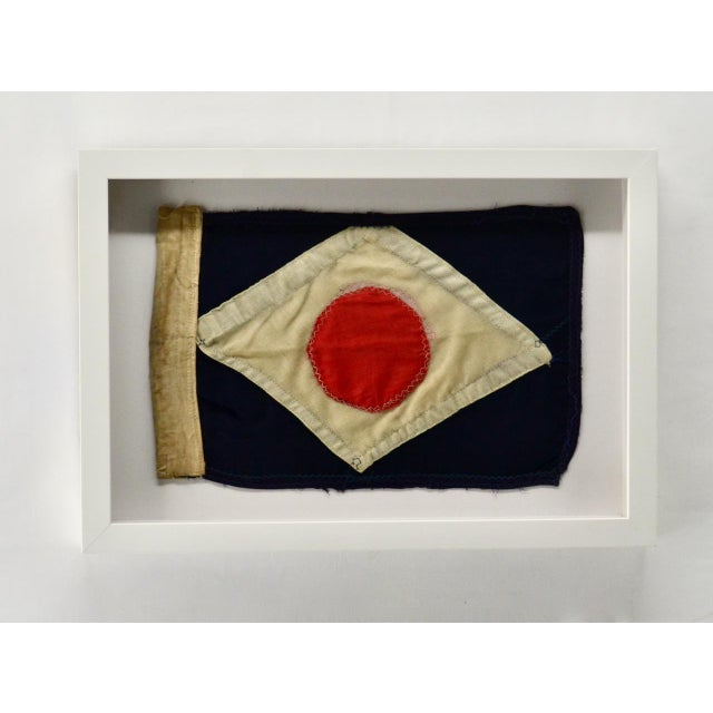 Late 18th Century Antique Yacht Signal Flag Hand Sewn For Sale - Image 5 of 5