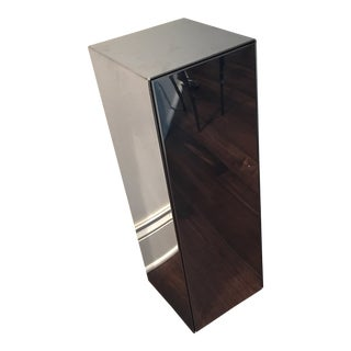 1970s Modern C Jere Chrome Pedestal Sculpture Stand Table For Sale
