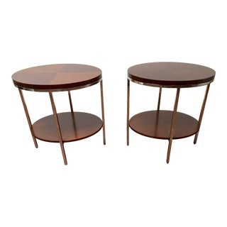 Bolier for Decca Home English Sycamore End Tables - a Pair For Sale