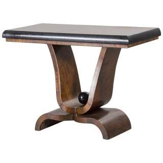 Art Deco Style Console Table in Walnut For Sale