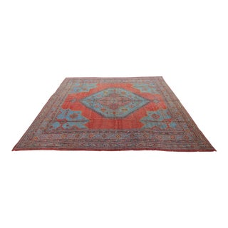 "Late 19Th C. Antique Oushak Turkish Rug - 17' X 21'6"" For Sale"