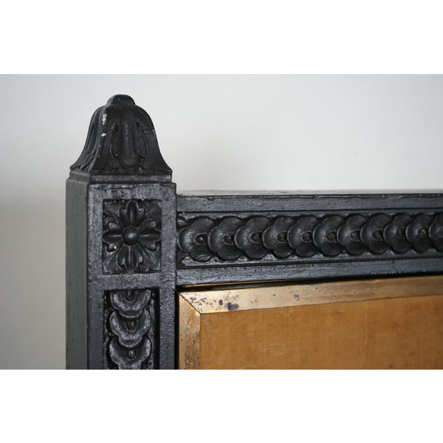 Black Antique Triptych Mirror For Sale - Image 8 of 10