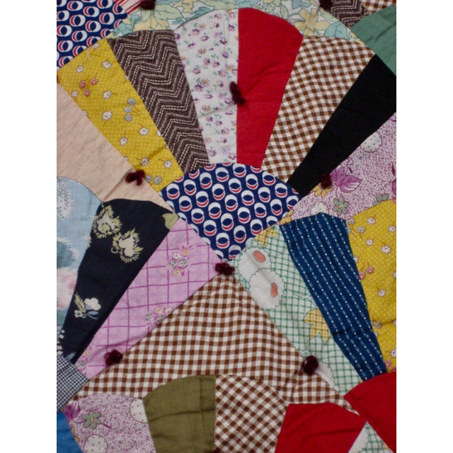 19th Century Antique American Quilt For Sale - Image 4 of 9