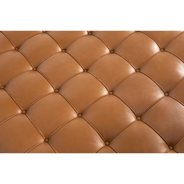 Brown Mies Van Der Rohe Barcelona Couch for Knoll For Sale - Image 8 of 11