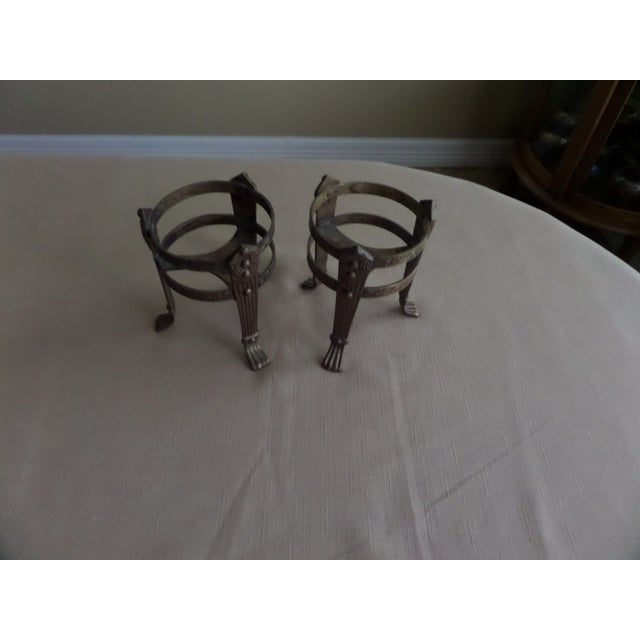 Vintage Solid Brass Candle Holders - A Pair - Image 3 of 8