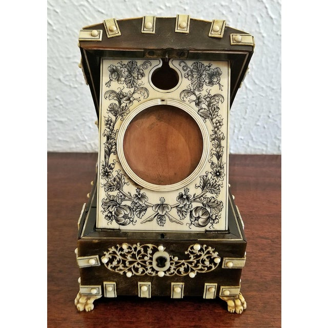 Lovely little box of incredible quality. Box made in Vizigapatam, India circa 1780. Made of ebonized sandalwood and bone...