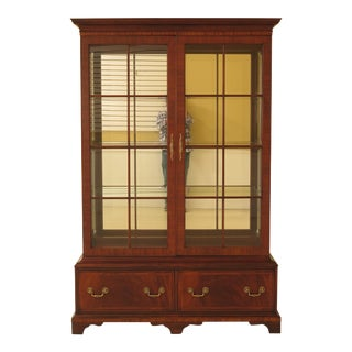 Traditional Henkel Harris Model Mahogany Curio Display Cabinet For Sale