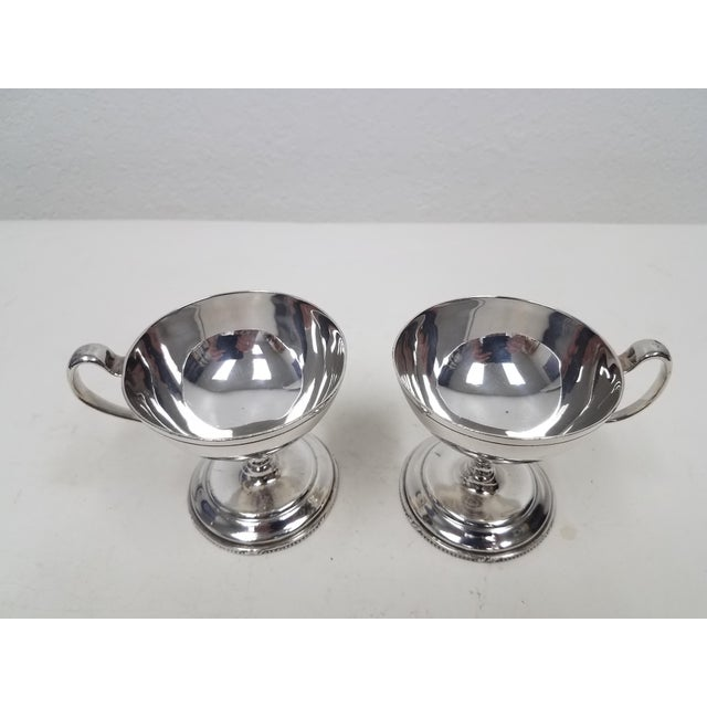 Antique English S Gladwin Silverplate Sorbet Dessert Cups - Pair S. Gladwin was active at Montgomery Works, (1921-1925)...