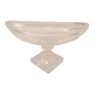 18th Century Irish Cut Glass Compote For Sale