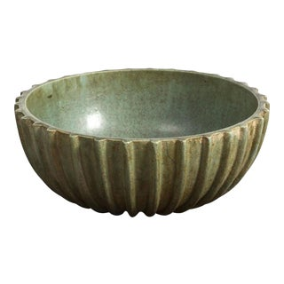 Large Ribbed Bowl by Arne Bang, 1950s For Sale