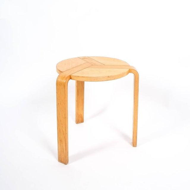 Rare birchwood stool by Simonit & Del Piero for Olivia, Italy. It's in good condition. We offer worldwide expert shipping.
