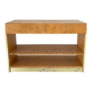 1970s Vintage Burlwood Dry Bar For Sale